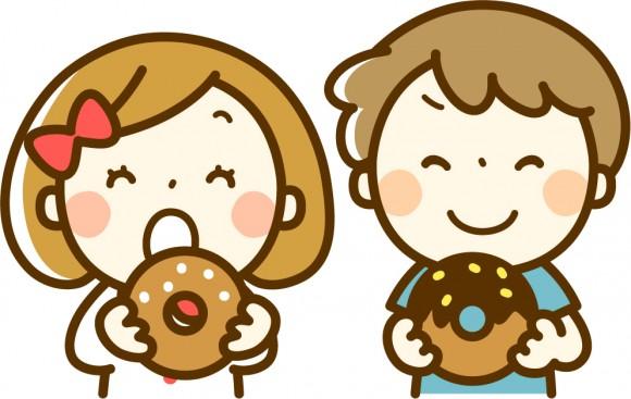 子供、お菓子、おやつ、間食