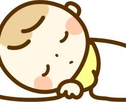 赤ちゃん、寝ている、布団