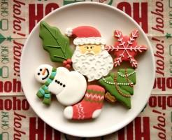クリスマス、アイシングクッキー