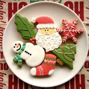 クリスマスカラーのアイシングクッキー!色のペーストの作り方など