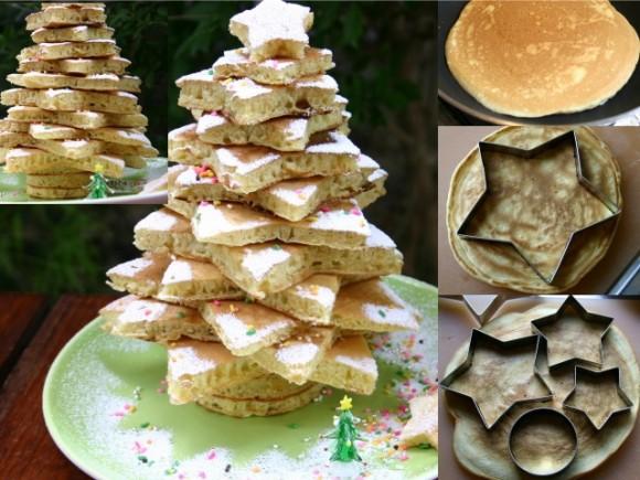クリスマスツリー、もみの木、パンケーキ