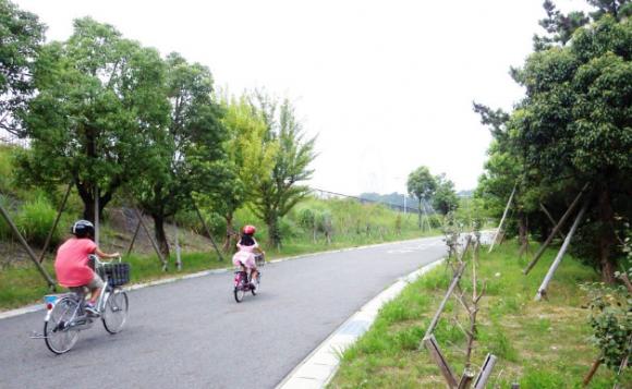 モリコロパーク、サイクリングコース 、自転車