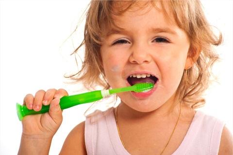 子ども、歯磨き