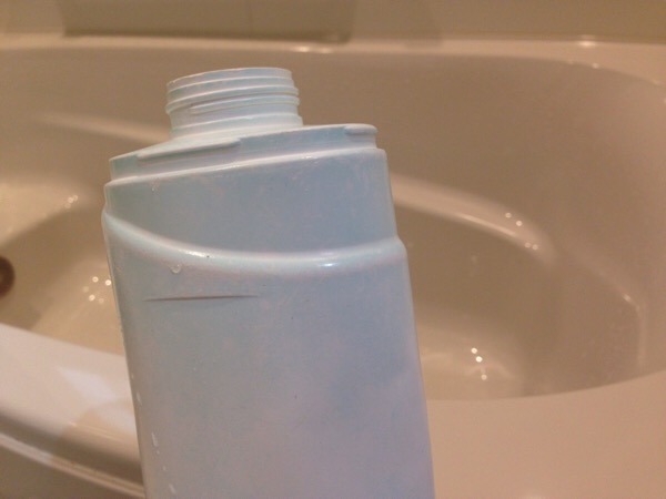 浴槽、お風呂、青い汚れ、銅石鹸