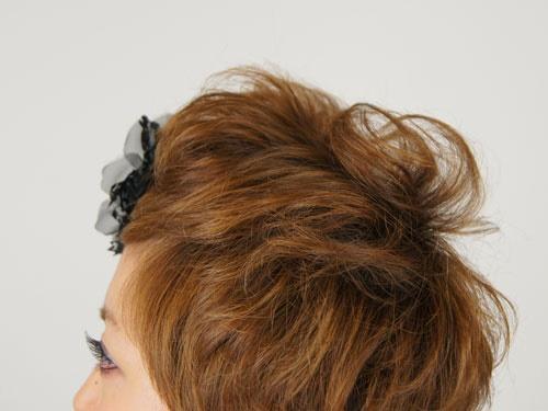 ショートヘア、セットアップ、ヘアアレンジ、髪型