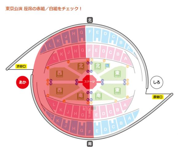 ワンワンといっしょ、夢のキャラクター大集合、東京公演、代々木体育館、座席表