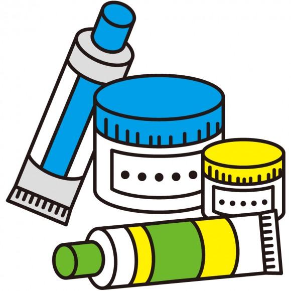 塗り薬、軟膏、チューブ