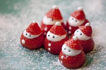 いちご、サンタ、飾り切り
