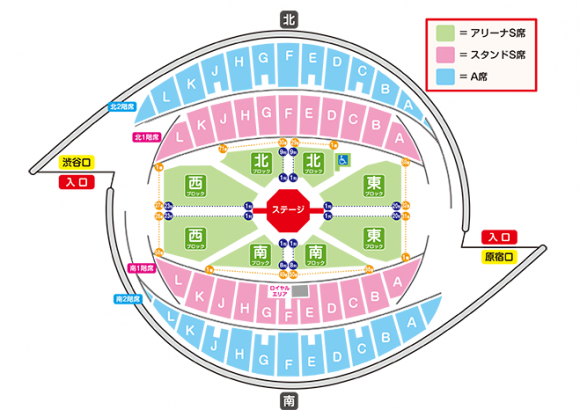 ワンワンといっしょ、夢のキャラクター大集合、東京公演、代々木体育館、代々木競技場、座席表