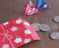 お金、お年玉、ぽち袋、硬貨