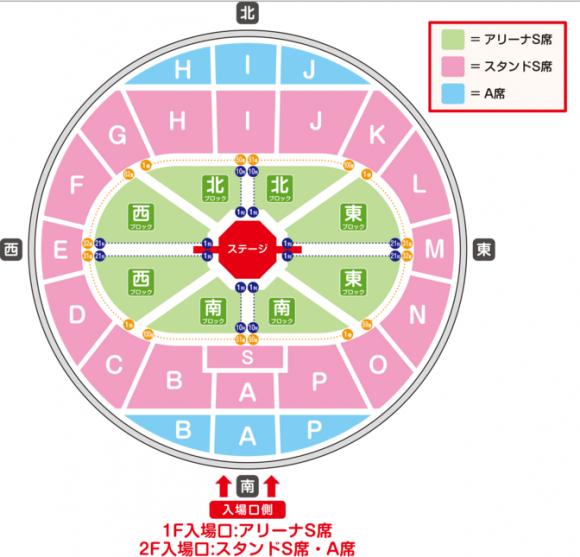 ワンワンといっしょ、夢のキャラクター大集合、名古屋公演、ガイシホール、座席表