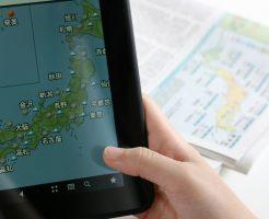 天気予報、雨、台風、日本地図